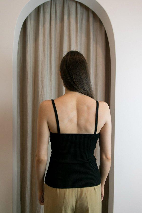 MARA HOFFMAN CARO SWEATER TANK - BLACK