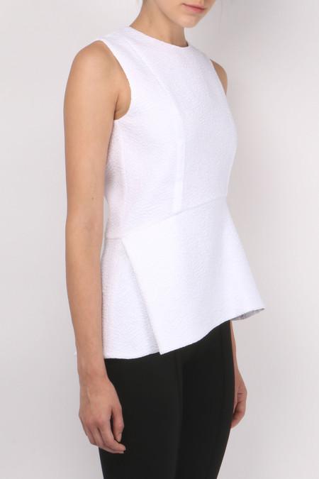 Carven Fluid Sleeveless Top - Blanc
