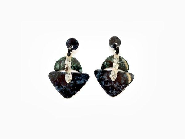 Valet Studio Ebony Earrings - Navy