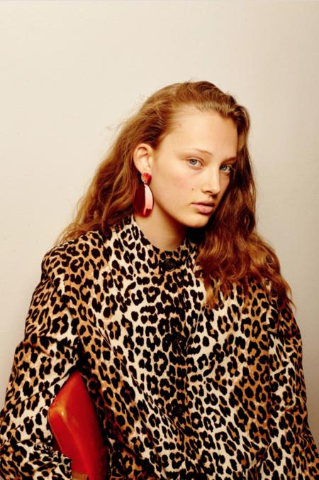 Valet Studio Pandora Earrings - Red