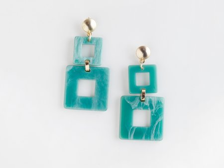 Valet Studio Toucan Earrings - Aqua