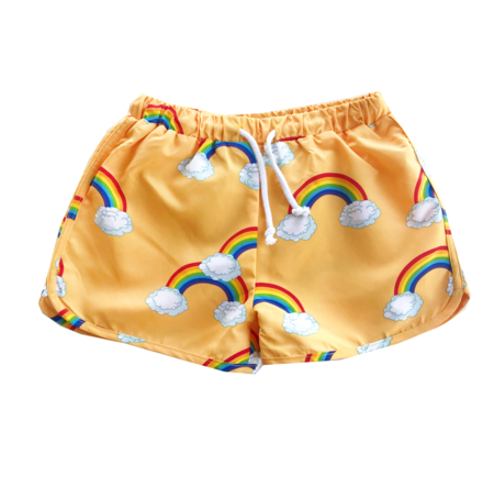 Kids Romey Loves Lulu Swim Trunks - Rainbow