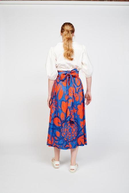 WHiT Kimani Skirt - Red/Blue