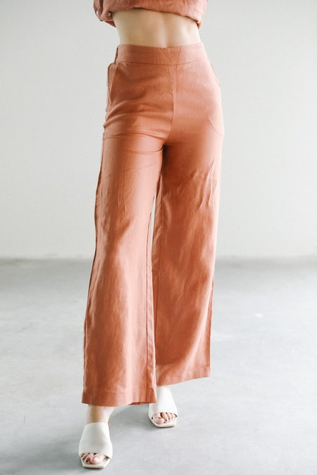 Lanhtropy Aurora Linen Pants - Terracotta