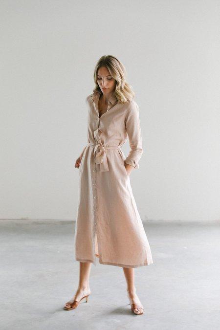Lanhtropy Paris Linen Dress - nude