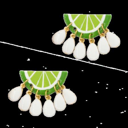 Susan Alexandra Earrings - Limeade