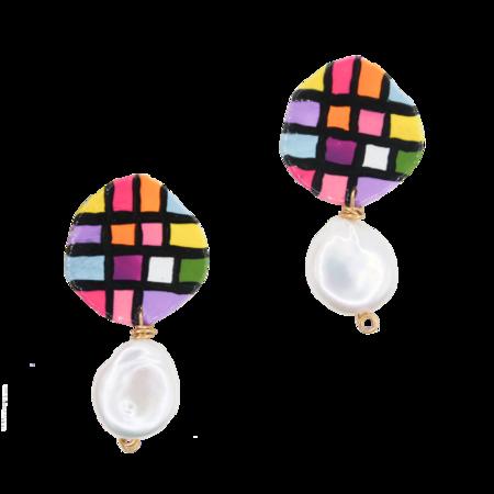 Susan Alexandra Scarlet Earrings