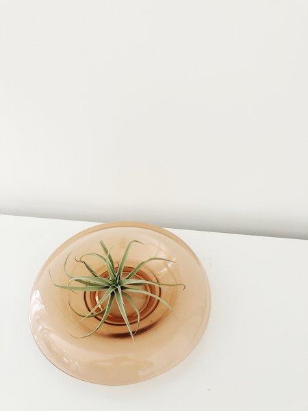 Ri-Ri-Ku Vintage ROLLED GLASS CONSOLE BOWL - Orange