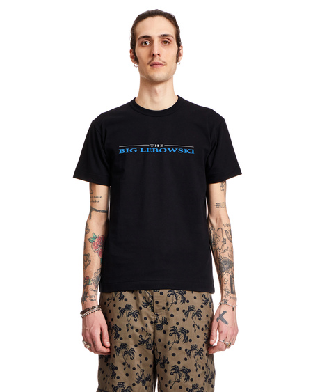 Sacai Lebowski Black Cotton T-Shirt - Multicolor
