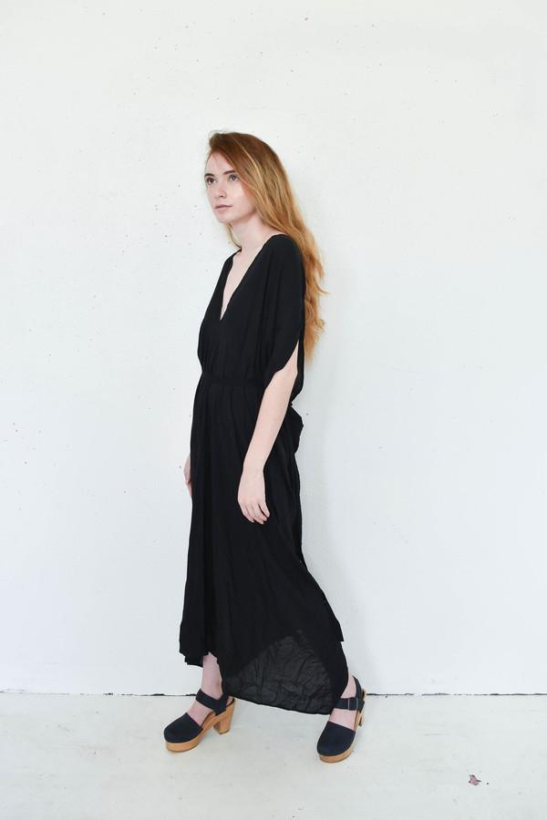 7115 By Szeki Signature Kimono Maxi Dress in Black