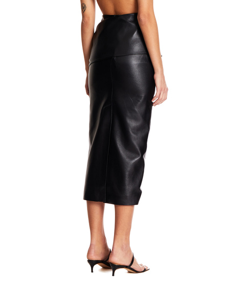 Matériel Faux Leather Sheath Skirt - Black
