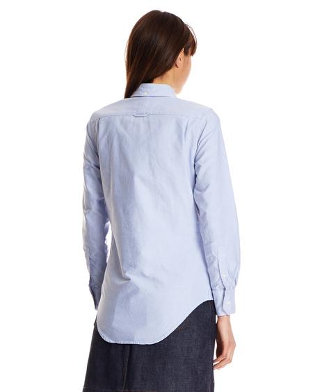 Thom Browne Logo Shirt - Light Blue Cotton
