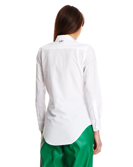 Thom Browne Logo Shirt - White Cotton