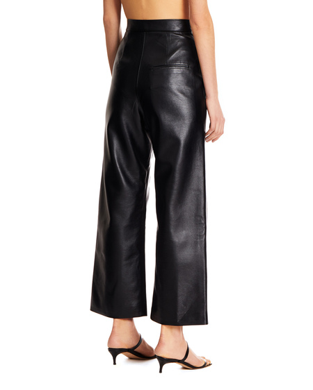 Matériel Flared Trousers in Faux Leather - Black