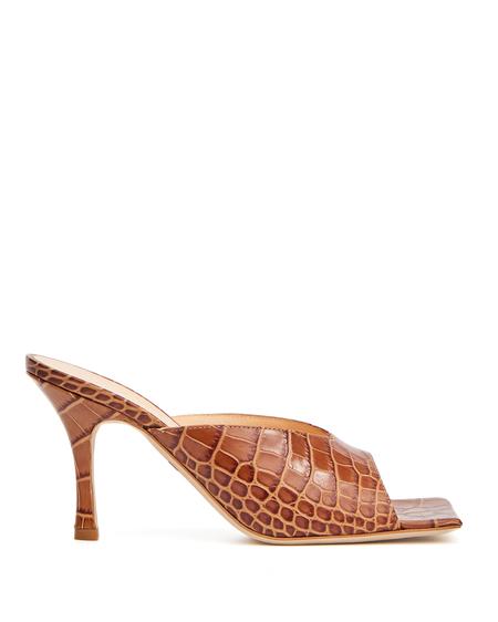 A.W.A.K.E. Mode Coconut Leather Mules - Beige