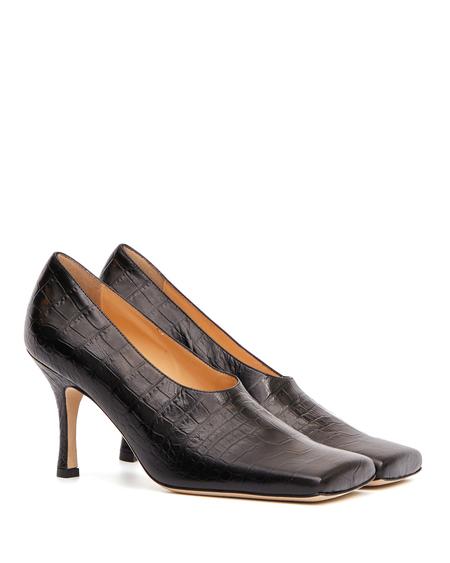 A.W.A.K.E. Mode Leather Pumps - Black Croco