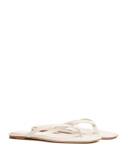 Studio Amelia Leather 2.2 Flip Flops - White
