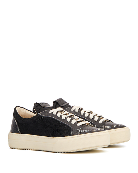 Rhude Leather and Suede Sneakers - Black