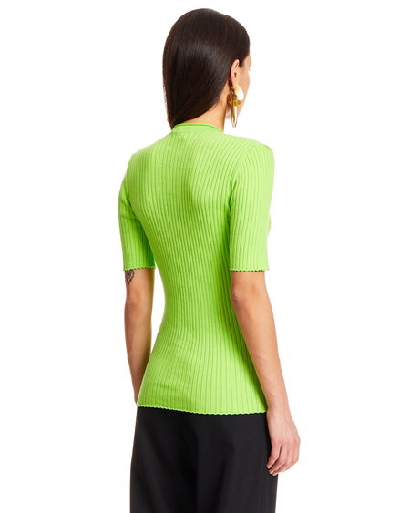 Courrèges Stretch Cotton Sweater - Green