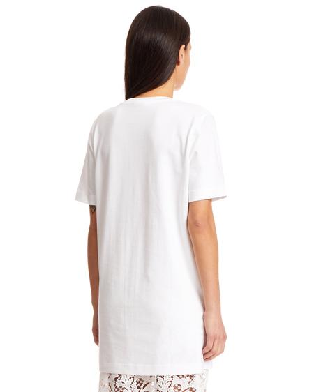 Courrèges Long Logo Cotton T-Shirt - White