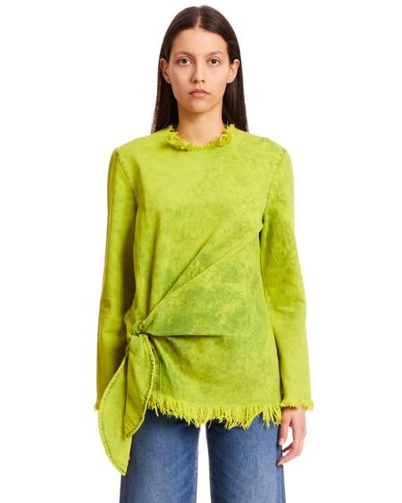 Marques Almeida Cotton Denim Top - Green