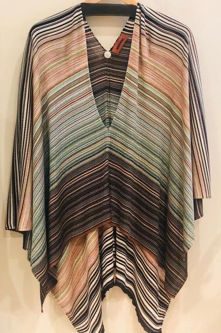 MISSONI Striped Metallic Poncho