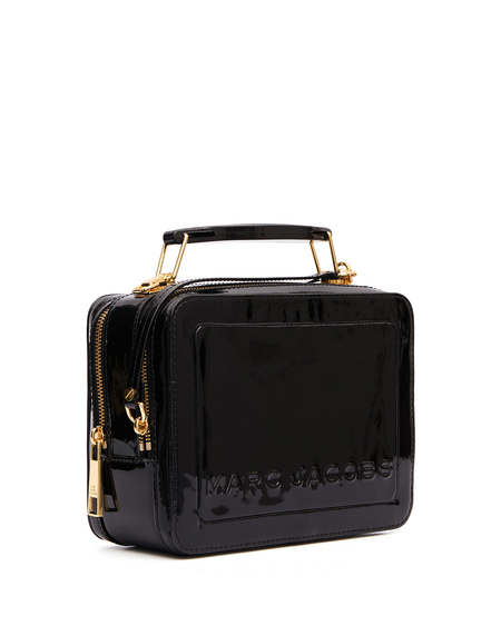 Marc Jacobs The Box Patent Leather Bag - Black