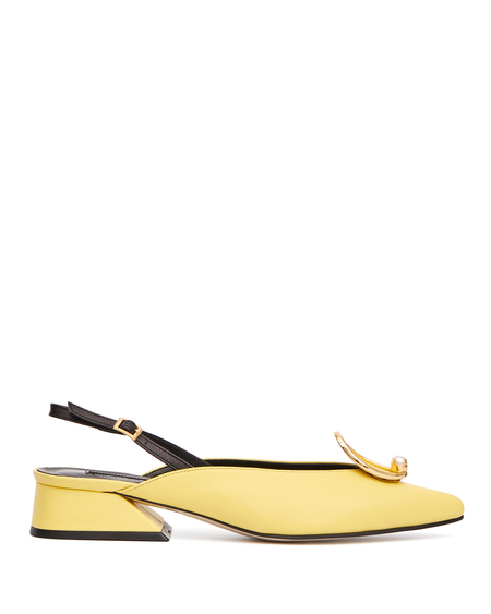 Yuul Yie Leather Zizi Pumps - Yellow