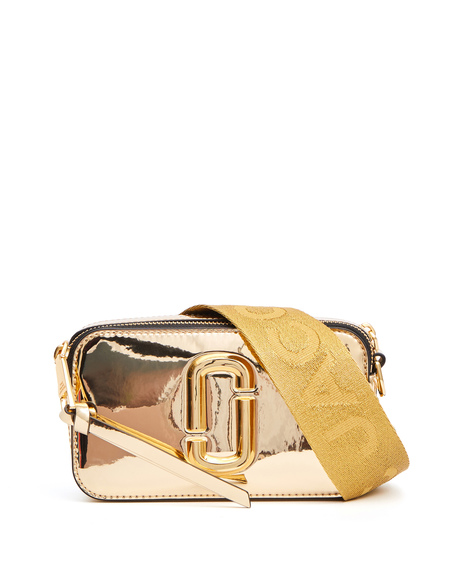 Marc Jacobs Snapshot Laminated Leather Bag - Gold