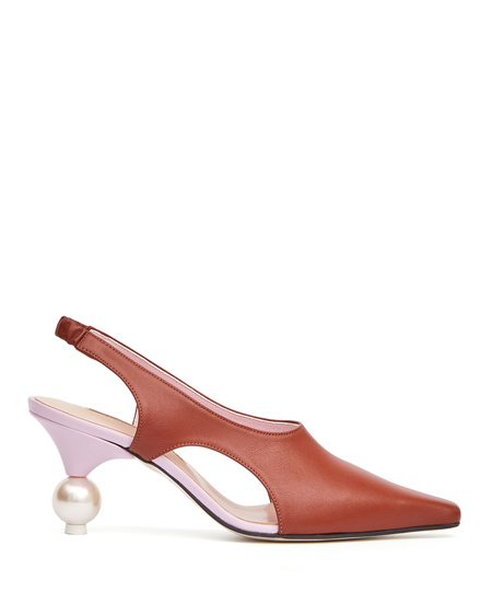 Yuul Yie Doreen Leather Pumps - Brown