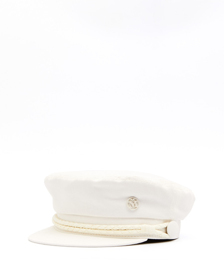 Maison Michel Cotton Baker Boy Hat - Beige