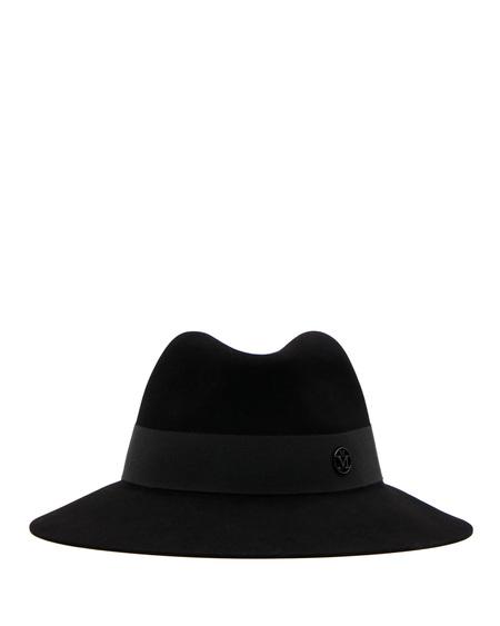 Maison Michel Wool Fedora Hat - Black