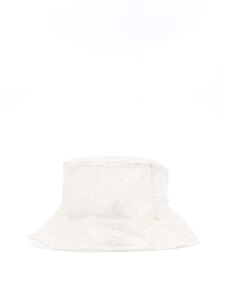 Maison Michel Jason Cotton Hat - WHite