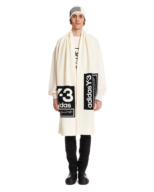 Y-3 Wool Over Scarf - White