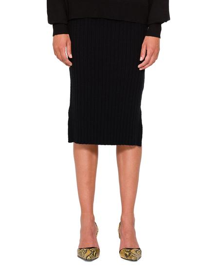 Courrèges Wool Sheath Skirt - Black