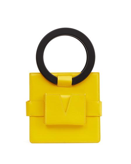 IURI Leather Hand Bag - Yellow