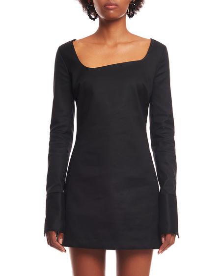 Coperni Asymmetric Cotton Dress - Black