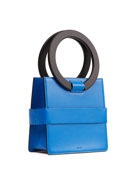 IURI Leather Hand Bag - Blue
