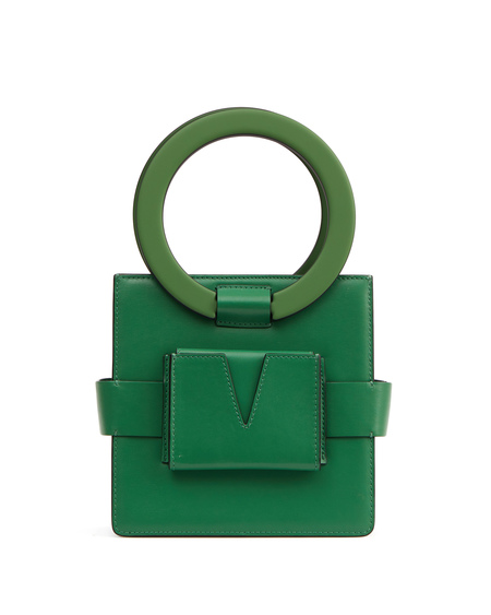 IURI Leather Hand Bag - Green