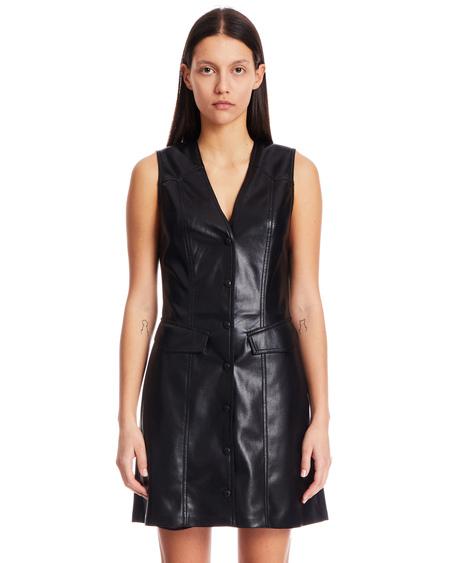 Nanushka Menphi Eco-Leather Dress - Black