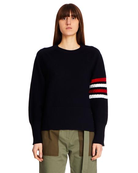 Thom Browne Wool Logo Sweater - Navy Blue