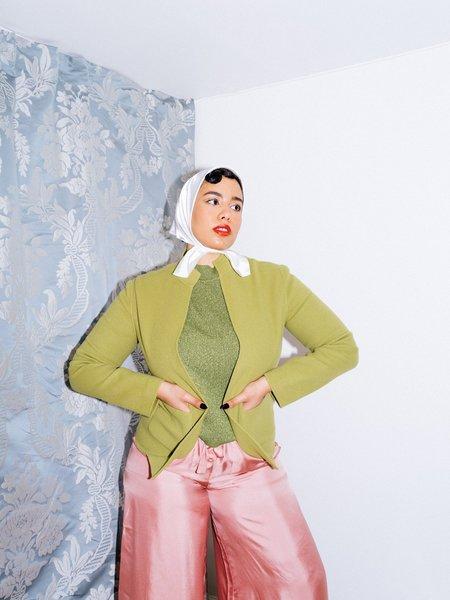Vintage Kintsugi Wool Jacket - Green