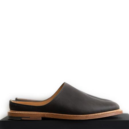 Viberg Oiled Calf Mule Slipper - Clove