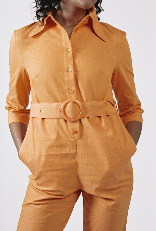 HOUSE OF SUNNY Coveralls - Hot Tigerlily