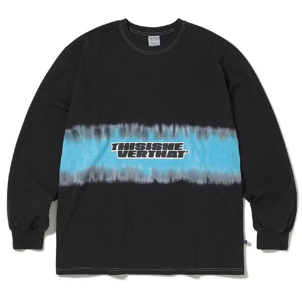 ThisIsNeverThat Striped Tiedye L/S Top - Black
