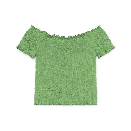 Paloma Wool HOPPER TOP - GREEN FLUOR