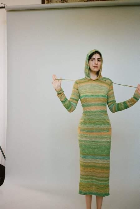 Gauntlett Cheng Bruised Hoodie Dress