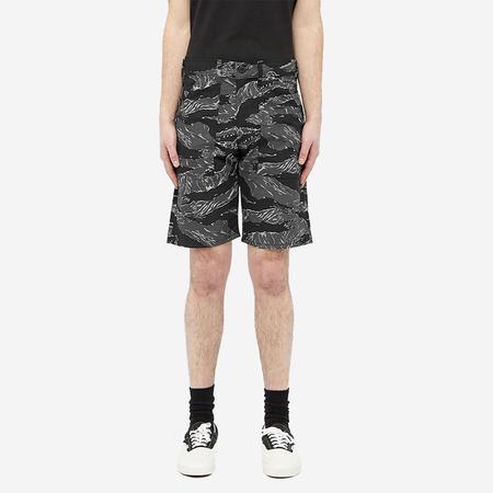 Stan Ray 4-Pocket Fatigue Shorts - Black Tigerstripe Ripstop