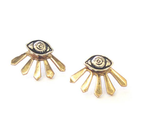 Pamela Love Illuminas Earrings in Sterling Silver and Bronze