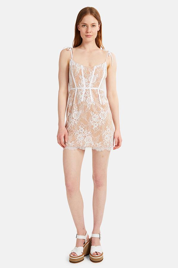 For Love Lemons Cheyenne Lace Mini Dress Ivory Garmentory